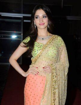 Tamanna Bhatia Photos in Saree at GR8 Women Awards Event