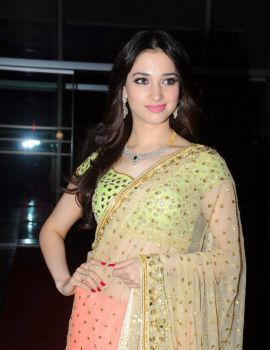 Tamanna Bhatia Photos in Saree at GR8 Women Awards Event