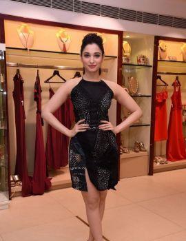 Tamanna Black Dress Photos at Esha Party Wear Collection Preview