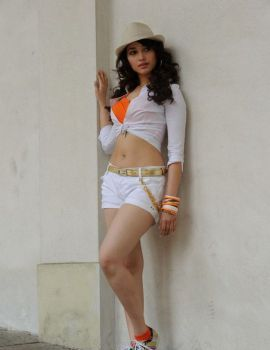 Tamanna Stills in White Dress