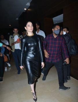 Tamannaah Bhatia in Black Dress at MasterChef Telugu Press Meet