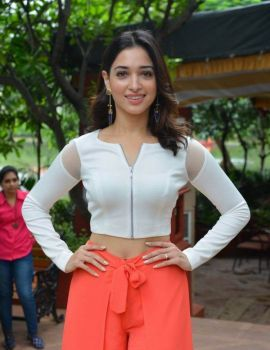 Tamannaah Stills at Abhinetri Movie Interview