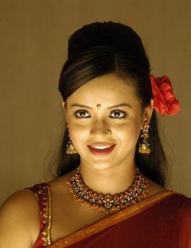 Telugu Actress Tanu Roy Stills in Red Saree