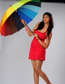 Tanvi Vyas Latest Photoshoot in Red Dress