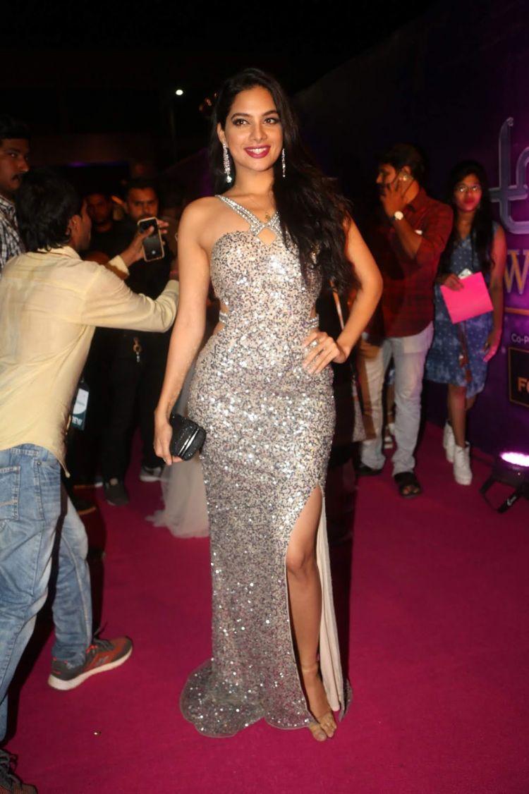Actress Tanya Hope at Zee Apsara Awards 2018 Red Carpet