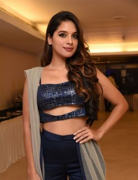 Tanya Hope Stills at Udgharsha Movie Trailer Launch Event Held at Bengaluru