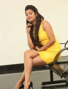 Tarunika Singh Yellow Dress Stills at Ramasakkanodu Movie Launch