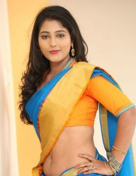 Teja Reddy Saree Stills from Mela Movie on Location