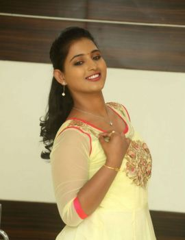 Telugu Actress Teja Reddy Stills in Lemon Yellow Dress