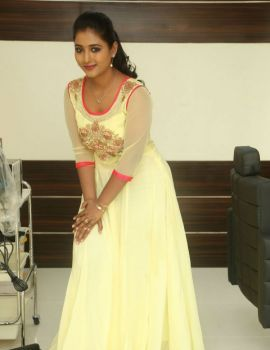 Telugu Actress Teja Reddy Stills in Lemon Yellow Dress