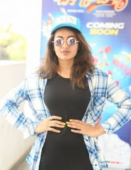 Tejaswi Madivada Photos at Babu Baga Busy Movie Promotion