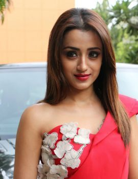 Tamil Actress Trisha Krishnan stills at Mohini Movie Press Meet