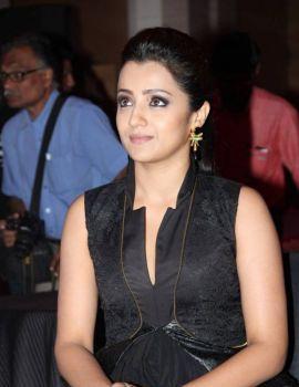 Trisha in Black Dress at Shop CJ Tamil Channel Launch