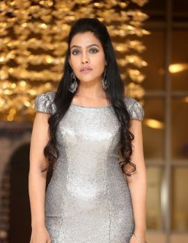 Telugu Actress Trishna Mukherjee Stills at Madha Movie Pre-Release Event