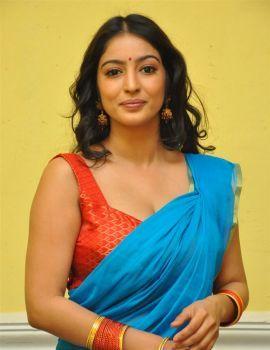Vaibhavi Joshi in Saree at www Meena Bazaar Movie Launch