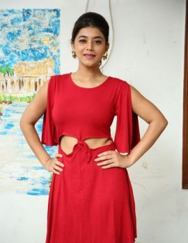 Yamini Bhaskar in Red Dress at Elite New Year Eve 2019 Ticket Launch