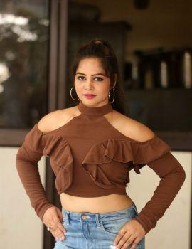 Zaara Khan Stills at Telugu Movie Ranastalam Audio Launch