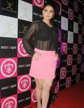 Bollywood Actress Zareen Khan at Mircrospa Launch